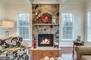 Floor to Ceiling Stone Gas Fireplace - 21431 FAIRHUNT DR, ASHBURN