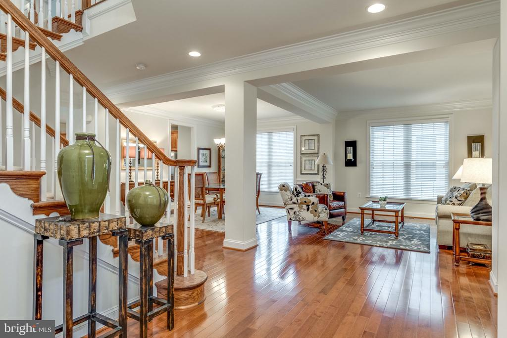 Open Living & Dining  Rooms with Recessed Lights - 21431 FAIRHUNT DR, ASHBURN