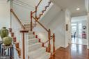 Gorgeous wainscoting leads you upstairs - 21431 FAIRHUNT DR, ASHBURN