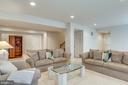 Large Basement serves as 2nd Family Room - 21431 FAIRHUNT DR, ASHBURN