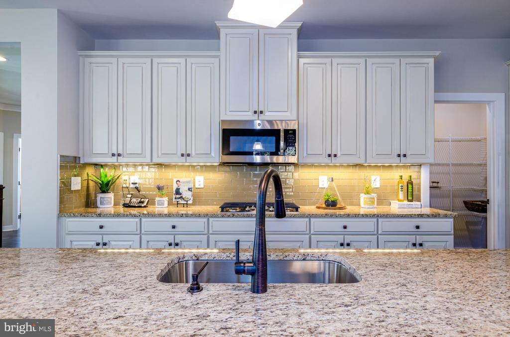 Oiled bronze fixtures and under cabinet lighting - 14311 BENTLEY PARK DR, BURTONSVILLE