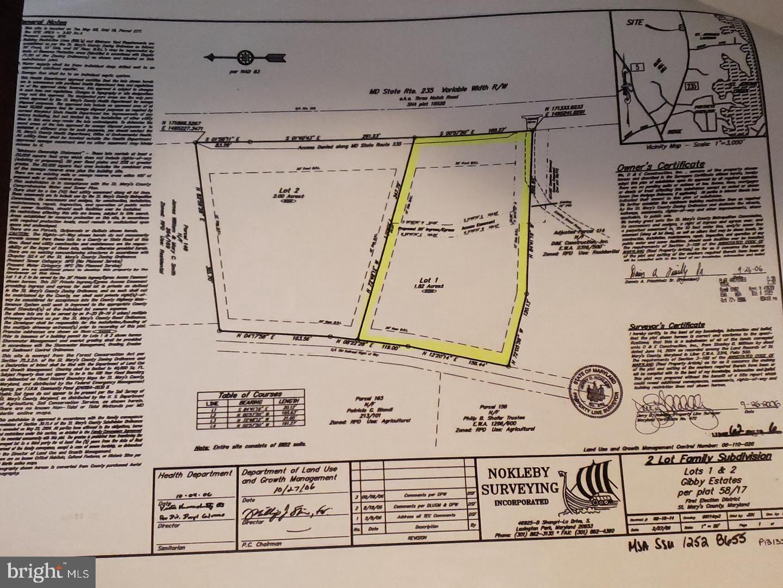 Земля для того Продажа на Dameron, Мэриленд 20628 Соединенные Штаты