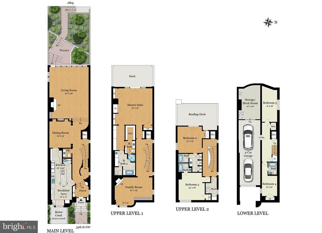 Floor plan rendering - 1914 35TH ST NW, WASHINGTON