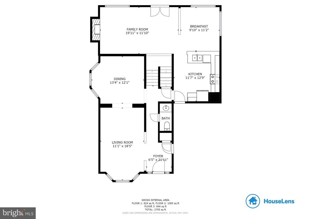Main Level Floor Plan - 827 BALLS BLUFF RD NE, LEESBURG