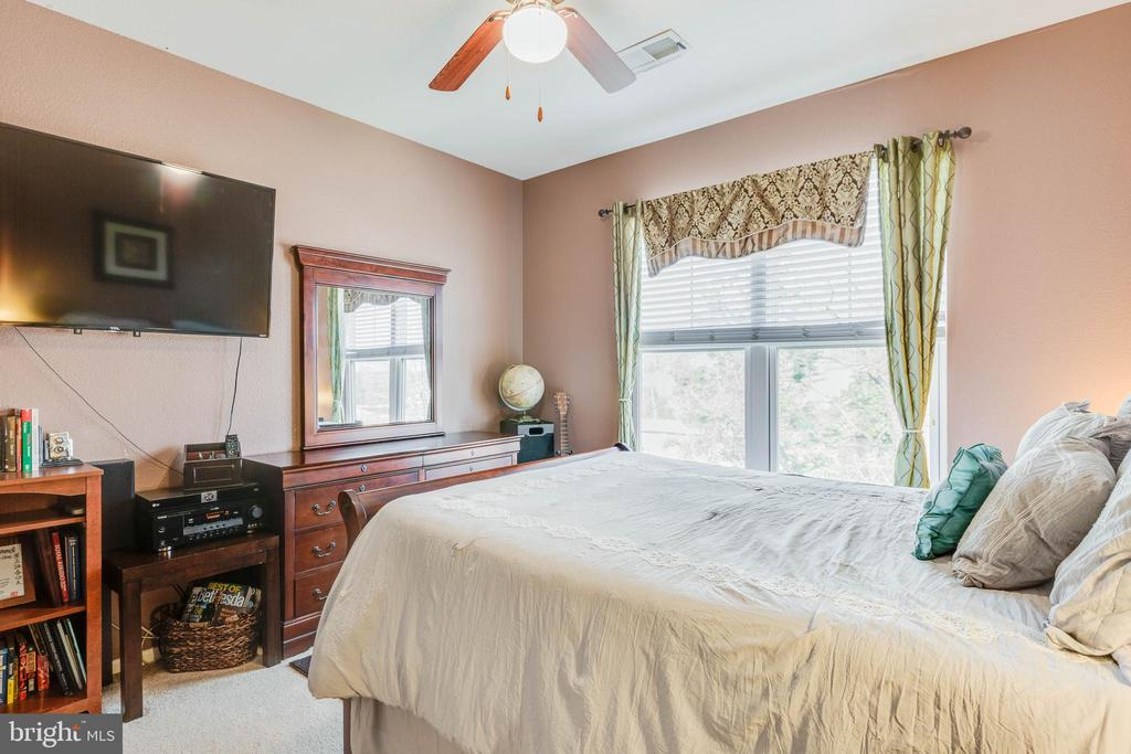 Main bedroom with ceiling fan - 11750 OLD GEORGETOWN RD #2430, NORTH BETHESDA