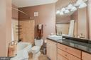 Redone bathrooms with granite sinktops - 11750 OLD GEORGETOWN RD #2430, NORTH BETHESDA