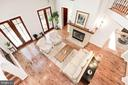 View of living room from above - 1231 INGLESIDE AVE, MCLEAN