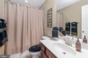FULL BATHROOM ON THE LOWER LEVEL - 9802 W RIDGE CT, SPOTSYLVANIA