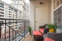 Private balcony - 2310 14TH ST N #301, ARLINGTON