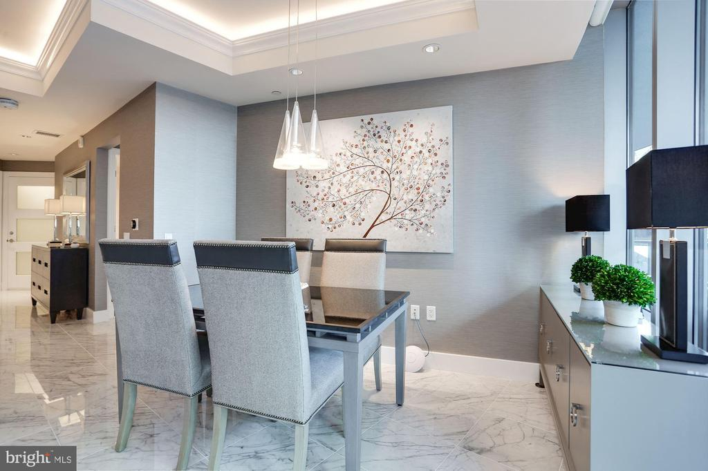 Dining Area with Modern Lighting - 1881 N NASH ST #212, ARLINGTON