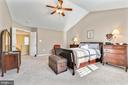 Mater bedroom with cathedral ceiling! - 1301 FEATHERSTONE LN NE, LEESBURG