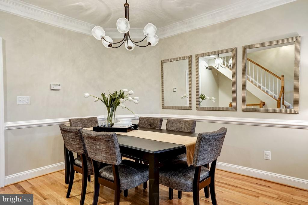 Dining room off living room - 2137 N PIERCE CT, ARLINGTON