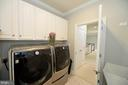 Upper laundry room with sink - 18184 SHINNIECOCK HILLS PL, LEESBURG