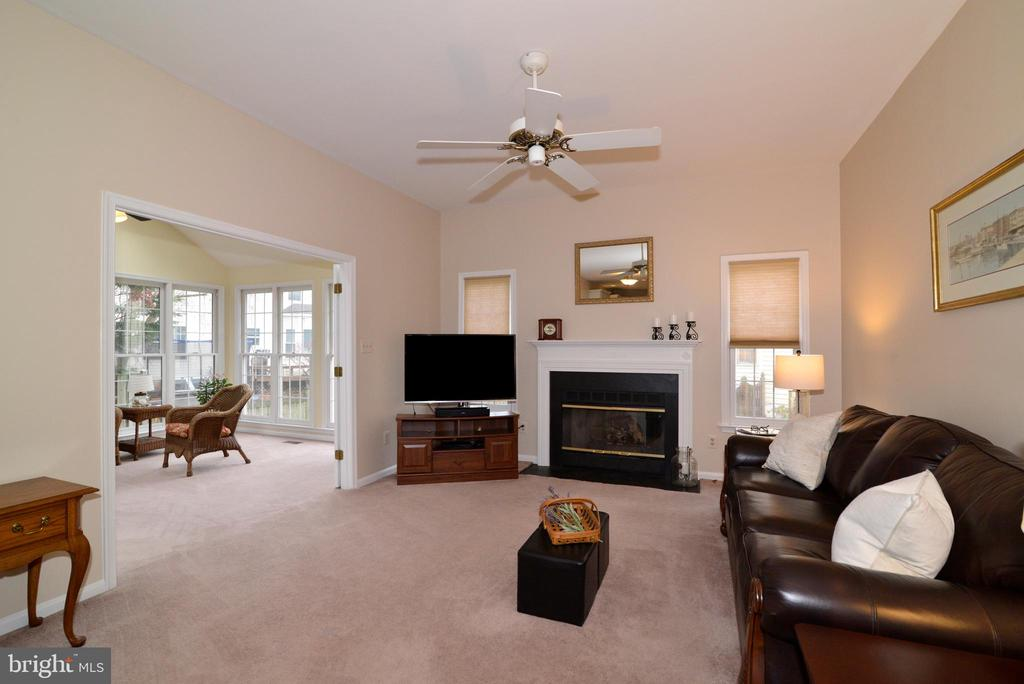 Family Room with Fireplace - 47408 GALLION FOREST CT, STERLING
