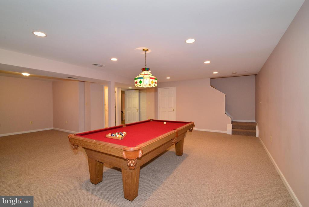 Lower Level with Pool Table. (conveys) - 47408 GALLION FOREST CT, STERLING