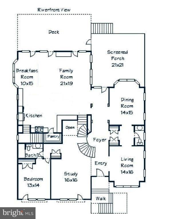 Main floor layout - 18184 SHINNIECOCK HILLS PL, LEESBURG