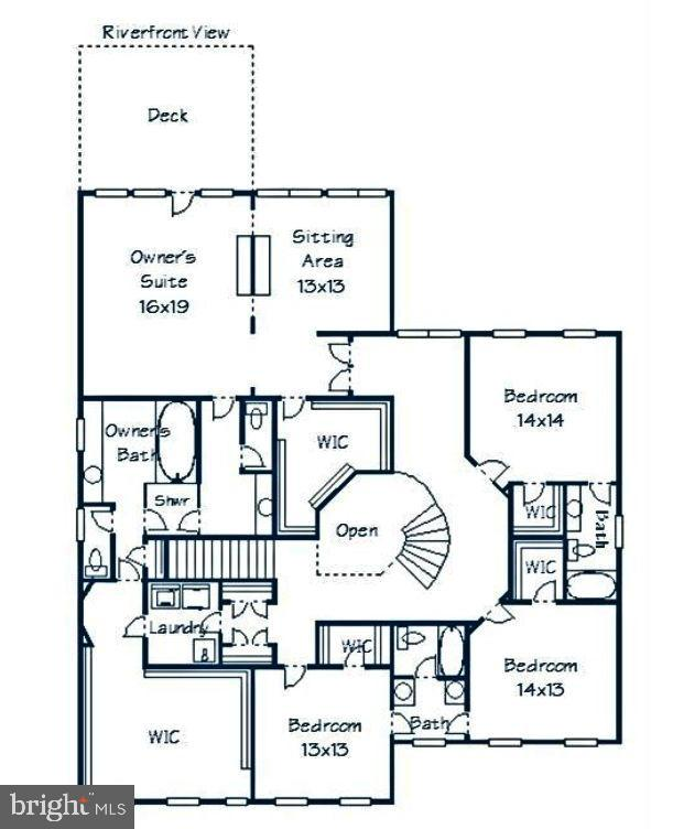 Upper level layout - 18184 SHINNIECOCK HILLS PL, LEESBURG