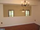 Dining Room Overlook to~Living Room - 8396 UXBRIDGE CT, SPRINGFIELD