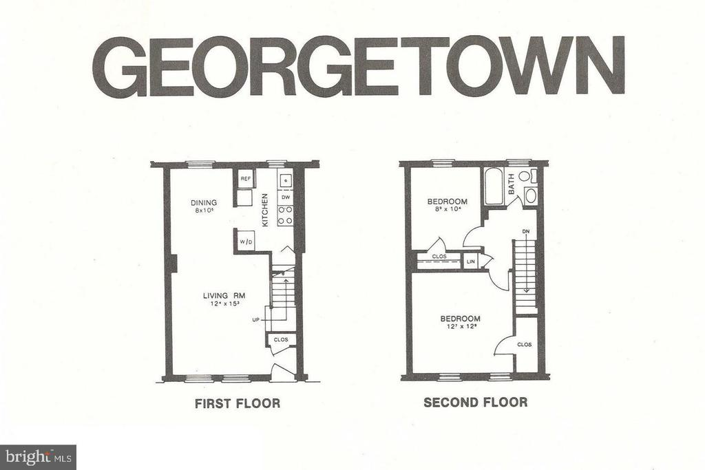 FLOOR-PLAN-Georgetown-Model - 2804 S ABINGDON ST #B, ARLINGTON