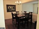 Dining Room Furnished - 8396 UXBRIDGE CT, SPRINGFIELD