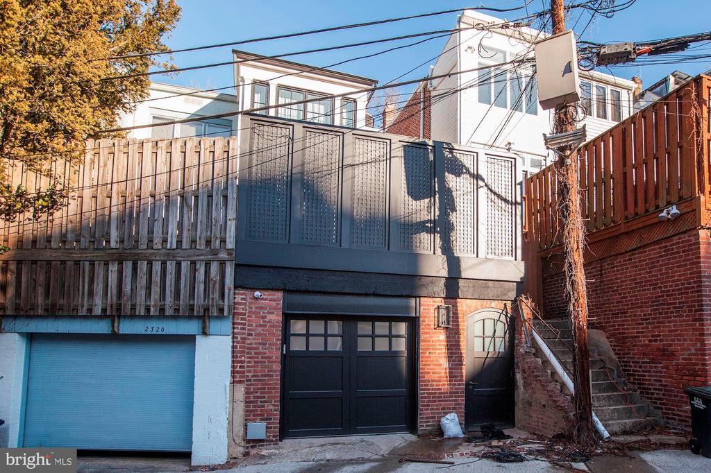 Rear view/garage - 2318 20TH ST NW, WASHINGTON