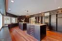 Master Bedroom Custom Closet w/Wine Cooler - 8033 WOODLAND HILLS LN, FAIRFAX STATION