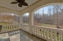 Private Balcony off Living Room & Office - 8033 WOODLAND HILLS LN, FAIRFAX STATION