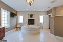 Master Bathroom - Soaking Tub & Gas Fireplace - 8033 WOODLAND HILLS LN, FAIRFAX STATION