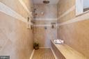 Master Bathroom - Luxury Spa Shower - 8033 WOODLAND HILLS LN, FAIRFAX STATION