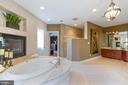 Master Bathroom - Jetted Soaking Tub - 8033 WOODLAND HILLS LN, FAIRFAX STATION