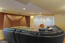 Lower Level - Media Room - 8033 WOODLAND HILLS LN, FAIRFAX STATION