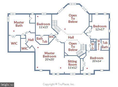 Upper Level Floor Plan - 43546 FIRESTONE PL, LEESBURG