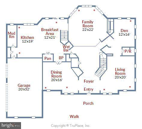 Main Level Floor Plan - 43546 FIRESTONE PL, LEESBURG
