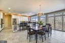 Kitchen and breakfast area-abundant light! - 43546 FIRESTONE PL, LEESBURG