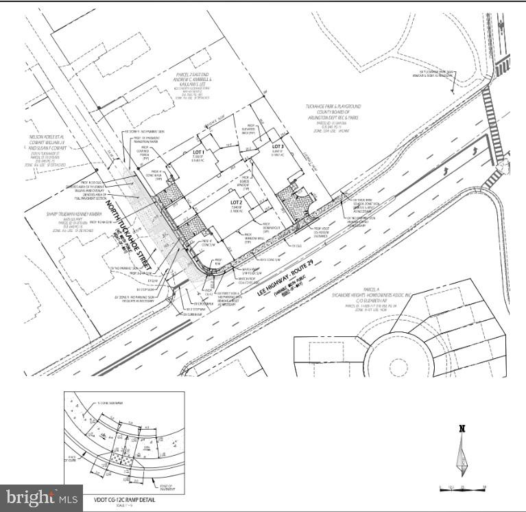 Site Plan - 2309 N TUCKAHOE ST, ARLINGTON