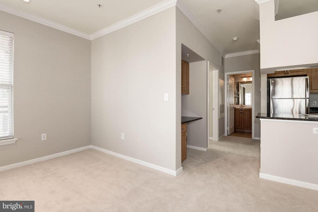 View from living area to secluded bedroom - 12112 GARDEN GROVE CIR #401, FAIRFAX