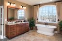 Owner's bath w/freestanding tub & dual vanities - 18293 WILD RASPBERRY DR, PURCELLVILLE