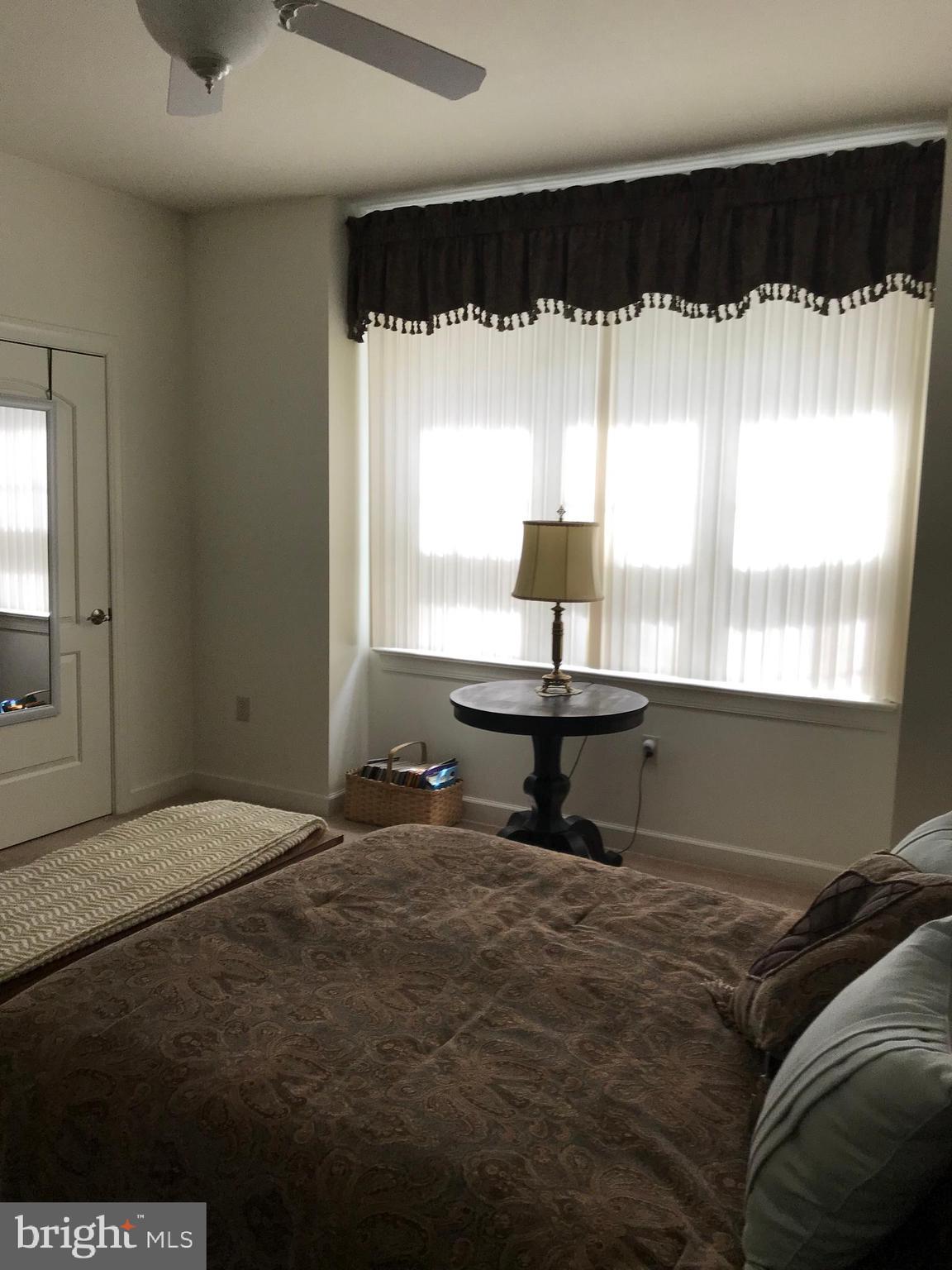 Master Bedroom has a triple window overlooking the
