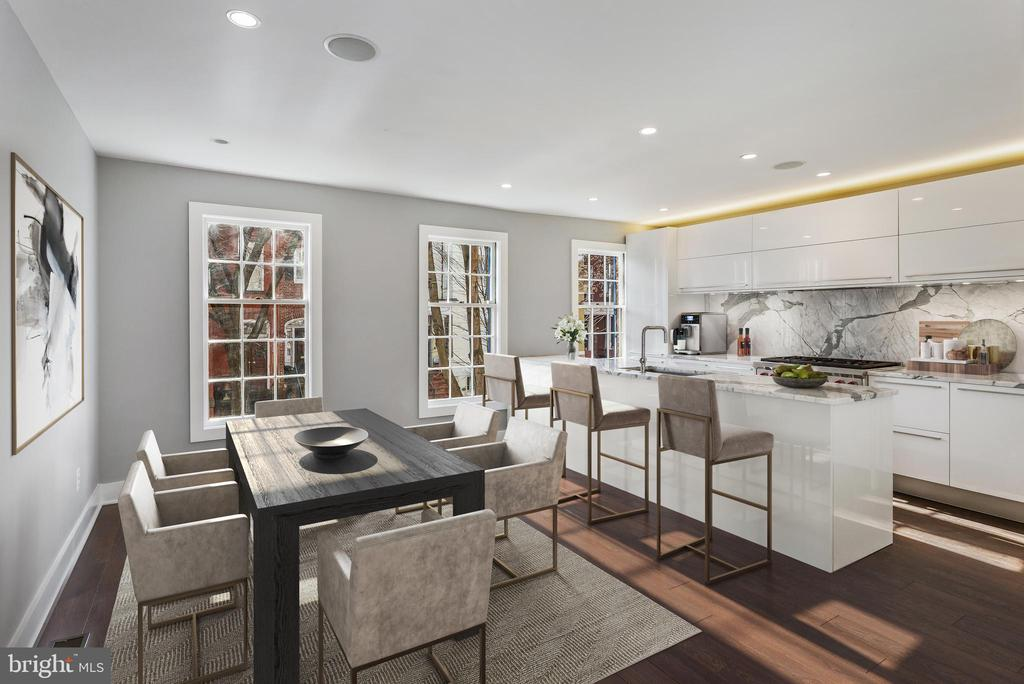 Gourmet Kitchen and Dining Room - 3053 Q ST NW, WASHINGTON