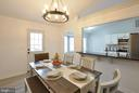 Inviting dining area/room with pass through - 309 STRATFORD CIR, LOCUST GROVE