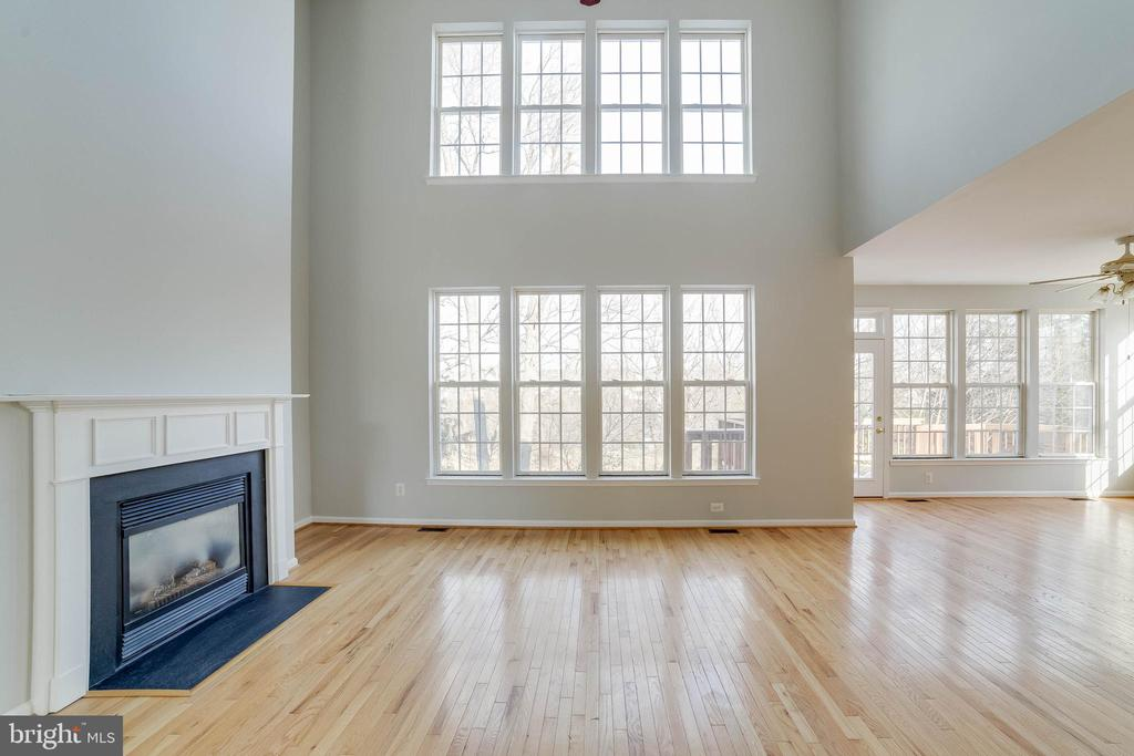 Two story family room overlooking the lake - 21072 CARTHAGENA CT, ASHBURN