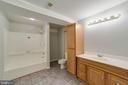 Lower level full bath - 21072 CARTHAGENA CT, ASHBURN