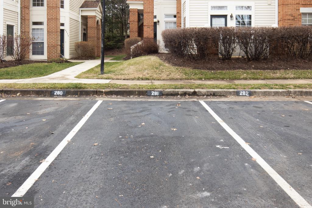 Parking spot out front. - 6814 BRINDLE HEATH WAY #257, ALEXANDRIA