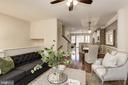Open main level floor plan - 2541 S KENMORE CT, ARLINGTON