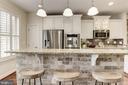 Modern upgraded kitchen - 2541 S KENMORE CT, ARLINGTON