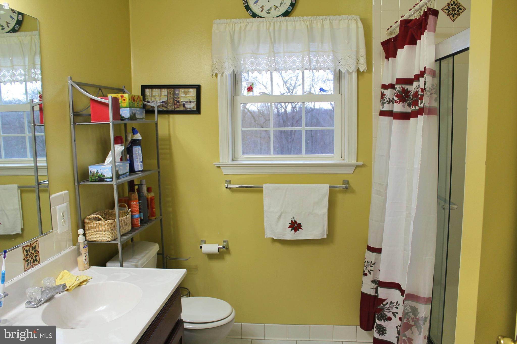 Full Bath accessible from Hallway and Master