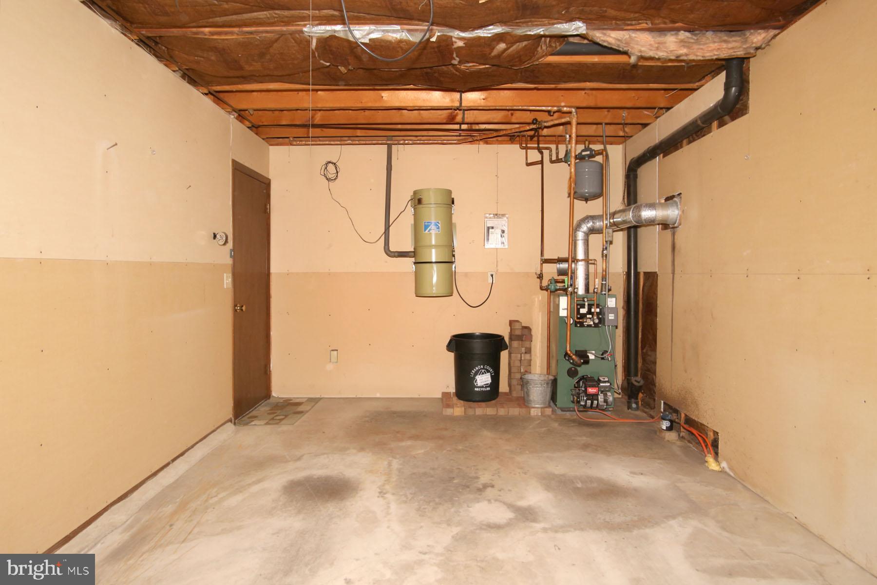 Garage view 2 - Central Vac/boiler