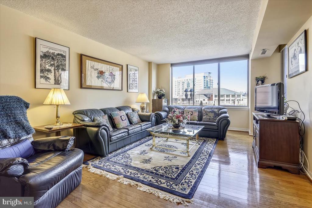 Living Room with large windows - 5809 NICHOLSON LN #206, NORTH BETHESDA