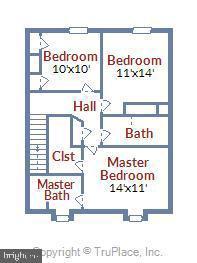 Floorplan - Upper level - 21 HAXALL CT, STERLING