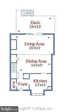 Floorplan - main level - 21 HAXALL CT, STERLING